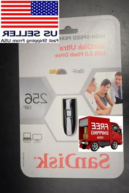 BRAND NEW SanDisk 256 GB Ultra USB 3.0 Keychain Flash Drive