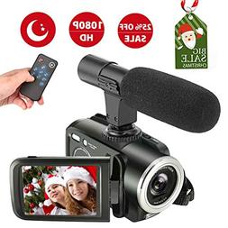 Camcorder Digital Video Camera, Camcorder with Microphone Fu
