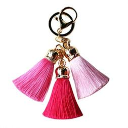 clearance key chain colorful tassel keychain backpack