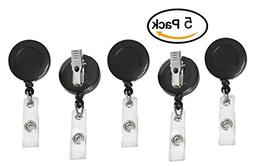 Clip on Retractable Badge Reel with Belt Clip for ID Cards B