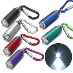 COB LED Flashlight Light 3Modes Mini Lamp Key Chain Ring Key