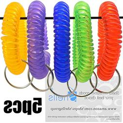 Shells 5PCS Colorful Soft Highly Spring Spiral Coil Wrist Ba