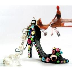 TOOGOO Crystal Rhinestone Diamante High Heel Shoe Decoration