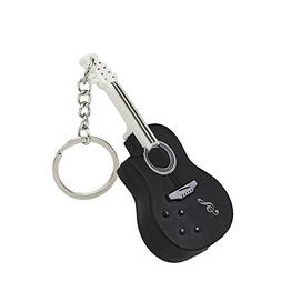 Emerayo Cute Cartoon Guitar Lightup Keychain with LED Light