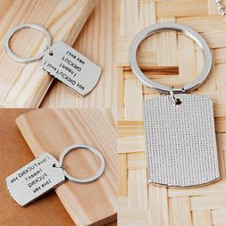 Cute Gift for HIM HER Key Ring Chain Dog Tag for Men Women G