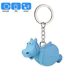 Emerayo Cute Hippo Lightup Keychain Flashlight Kids Toy Gift
