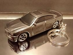 Dark Silver 2011 Dodge Charger R/T Diecast Key Chain Ring