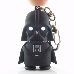 Darth Vader Light Up Key Chain – Tough Black Rubber Plasti