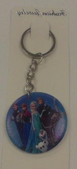 Disney's FROZEN ANNA ELSA OLAF W/ CAST KEY CHAIN LUGGAGE TAG
