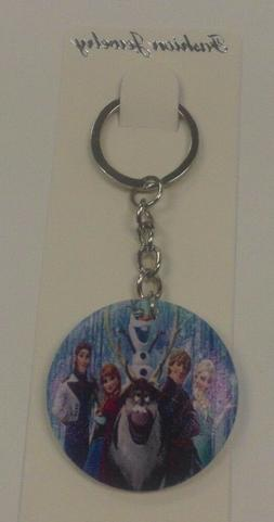 Disney's FROZEN ANNA ELSA OLAF & CAST KEY CHAIN LUGGAGE TAG