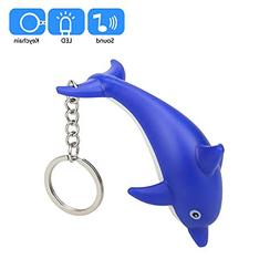 Gbell Girls Dolphin Flashlight Keychain Toys with LED Light