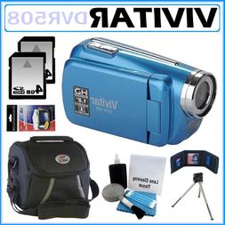 Vivitar DVR508 High Definition Digital Video Camcorder in Bl