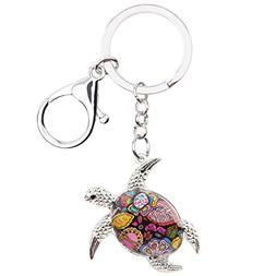 Enamel Alloy Turtle Key chains For Women Girls Gifts Car Pur