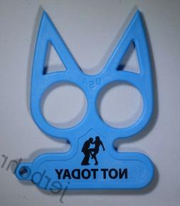NOT TODAY - EQUALIZER - Plastic Cute Kitty Self Defense Keyc