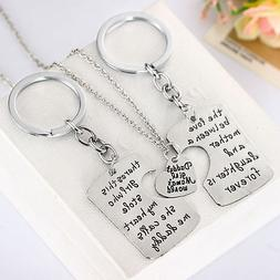 Family Matching Jewelry Set Necklace Keychain Gift For Mom D