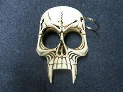 FANGED SKULL KNUCKLE SELF DEFENSE TOOL-NEW IN BOX-W/ KEYCHAI