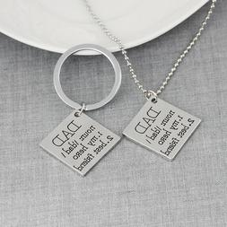 Father's Day Key Chain Men Papa Dad Gifts From Daughter Son