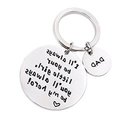 Fathers Day Gifts from Daughter Mens Keychain Novelty Birthd