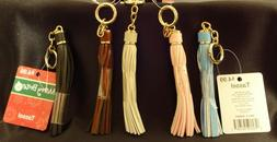 """Golden Chain and Ring 6.5/"""" Total Length Faux Leather Tassel Key FOB Key Chain"""