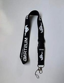 Ford Mustang Running Pony Horse Great Lanyard Keychain, Neck