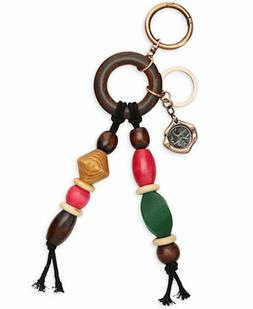 Patricia Nash GARDA Chocolate Multi-Color Wood Beaded KEY CH