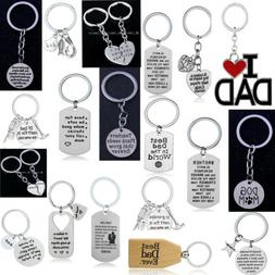 Gift For Dad Mom Lover Keyring Inspirational Family Friends