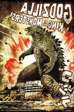 GODZILLA - CLASSIC MOVIE POSTER, US Version
