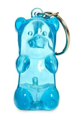 GUMMY BEAR KEYCHAIN lights up BLUE by FCTRY new Stress Toy C