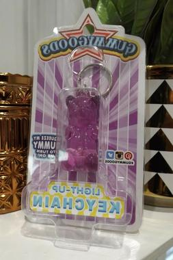 GUMMY BEAR KEYCHAIN lights up PURPLE by FCTRY new Stress Toy