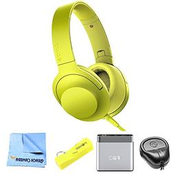 Sony Premium Hi-Res On-Ear Stereo Headphone Yellow MDR100AAP