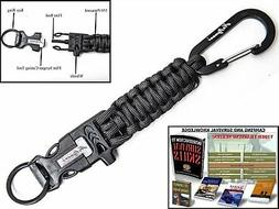 Holtzman's #1 Best paracord keychain carabiner survival to