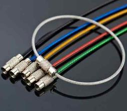 Hot Stainless Steel Wire Keychain Cable Key Ring Chain Outdo