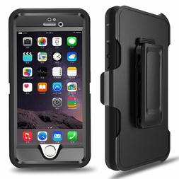 iPhone 6 6s Plus Defender Case Cover with Belt Clip Fits Ott