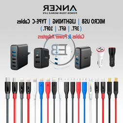 ANKER 3FT 6FT 10FT Cable Lightning iPhone / Android Phones U