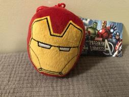 Iron Man Keychain/backpack Clip With Zipper Pocket