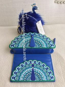Kate Spade Full Plume Peacock Coin Purse, Keychain Fob and C