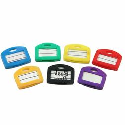 Key Cap Tags, 24 Pack, 6 Assorted Colors Key ID Ring Covers