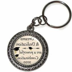 Key Chain CLASS OF 2020 With Inspirational Quote Graduation