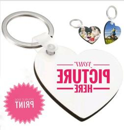 Key chain Heart Shaped Personalized Key Tag with Custom Imag