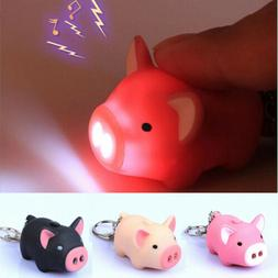 Key Chain Hot Super Bright Animal Lovely Pig New Sound With