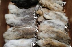 Key Chain--One Real Rabbit's Foot-Natural Color