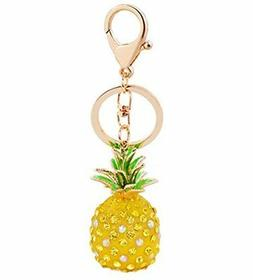 Aibearty Key Ring Exquisite Rhinestone Keychain Bag Car Acce