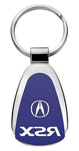Keychain & Keyring with Acura RSX Logo - Blue Tear Drop