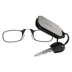 ThinOPTICS Keychain Reading Glasses, Black Frame, 1.50 Stren