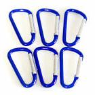 NEW 100 BLUE CARABINER D-RING SPRING BELT CLIP KEY CHAIN 1-7