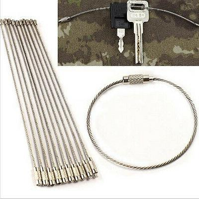 10x stainless steel edc cable wire loop