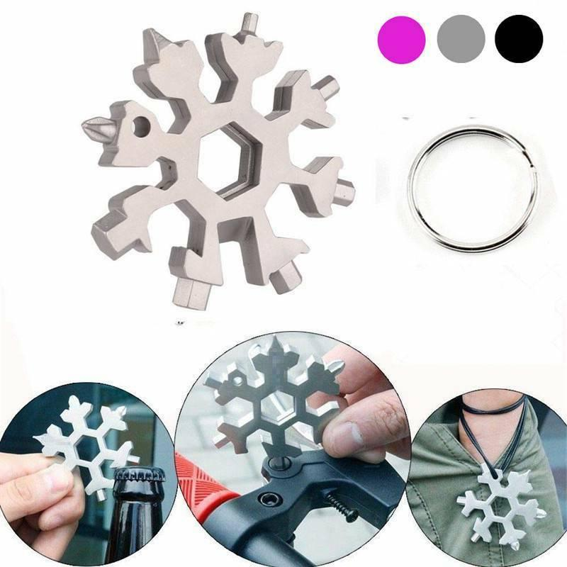18 In 1 Stainless Tool Multi Tool Portable Snowflake Shape K