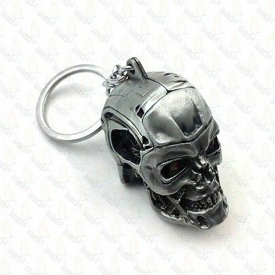 1pc Creative Motorcycle Bicycle Skull Key Chain Ring Keychai