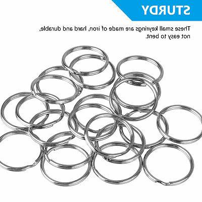 200Pcs Rings Split Ring Hoop Loop Steel Accessories LoT
