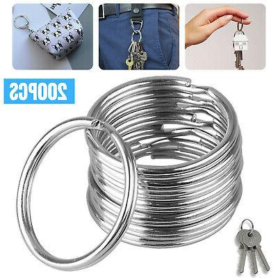 200pcs key rings chains split ring hoop